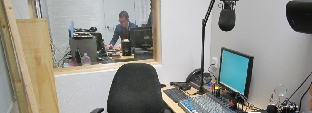 photo of studio 1 taken from studio 2