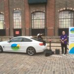 Photo of KeeP 106 OB car at Brewery Square 10th anniversary event
