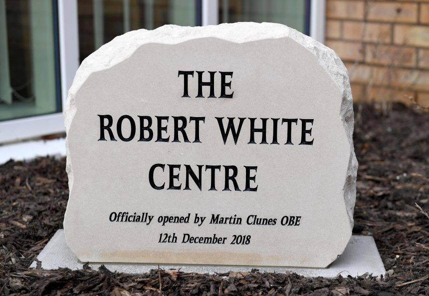 Photo of Robert White Centre memorial stone