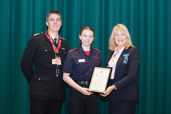 Fire Cadets thanked by High Sheriff of Dorset