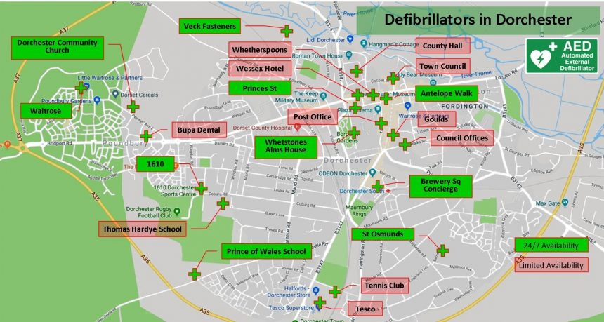 Know your nearest defibrillator