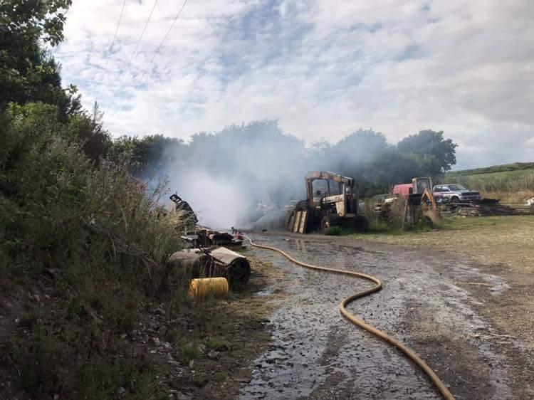 Crews battle fire invoicing butane cylinders