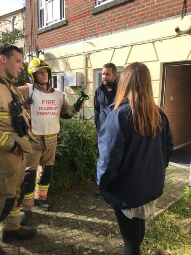 Cat treated after House fire in Dorchester