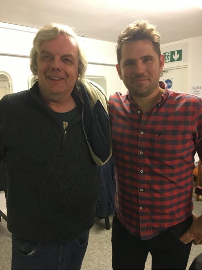 Andy Senior with Roy Stride of Scouting for Girls
