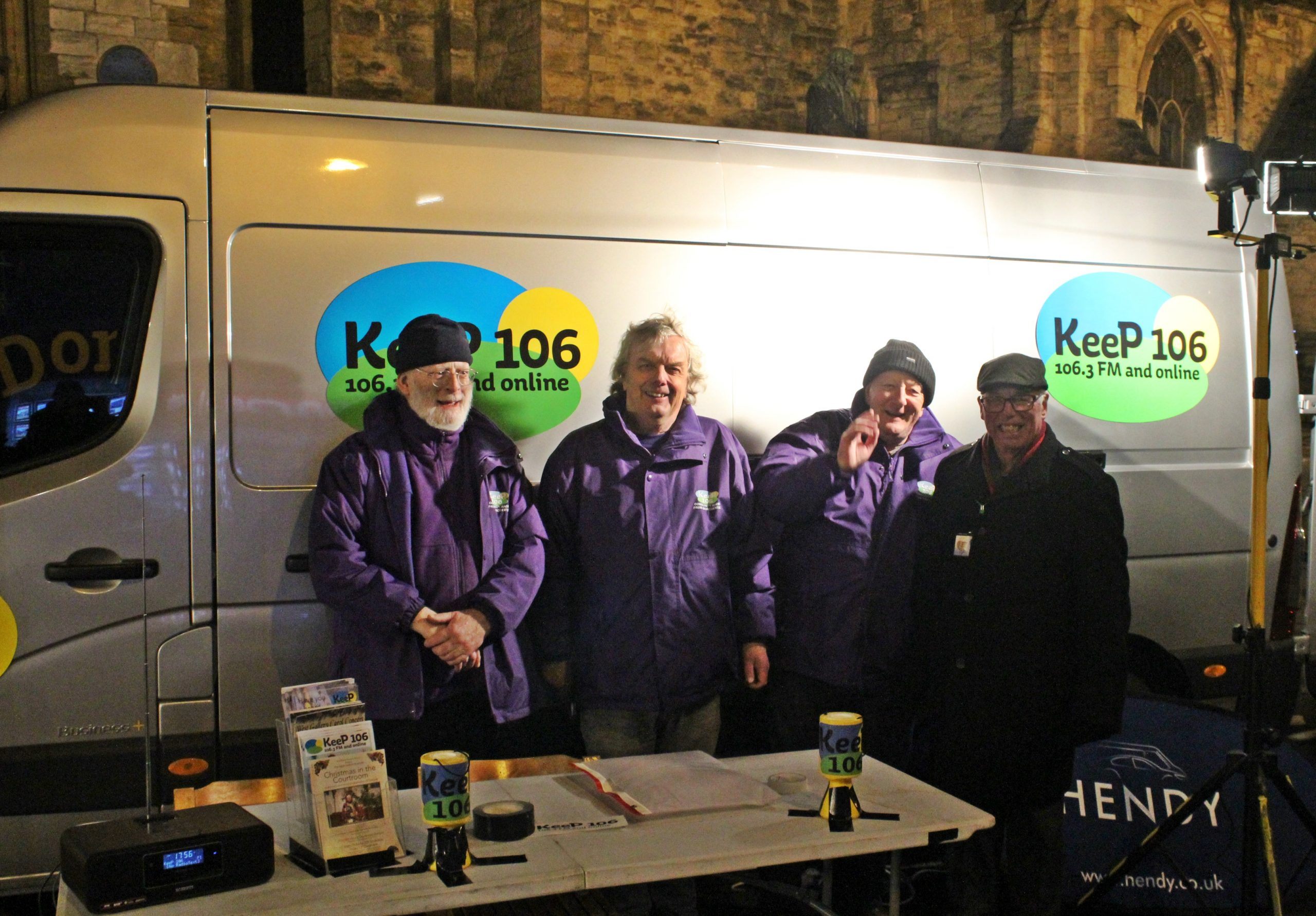 The KeeP106 team at Dorchester's Christmas Cracker 2019