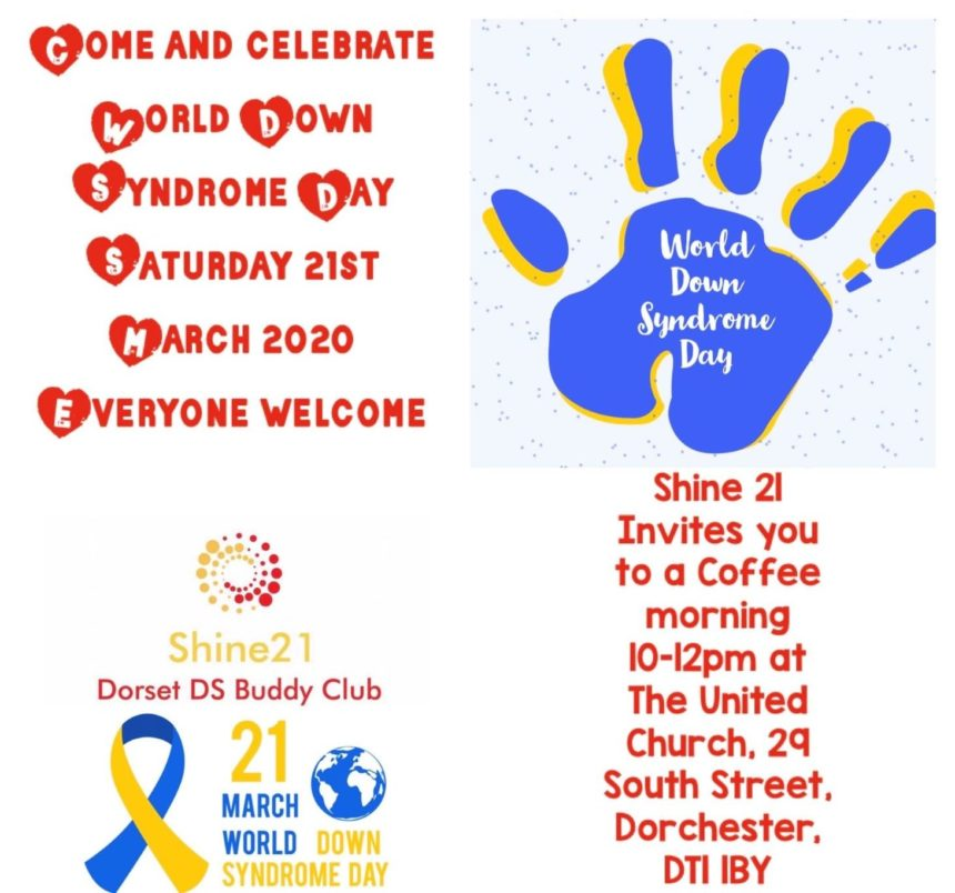 Shine21 Down Syndrome Coffee Morning flyer