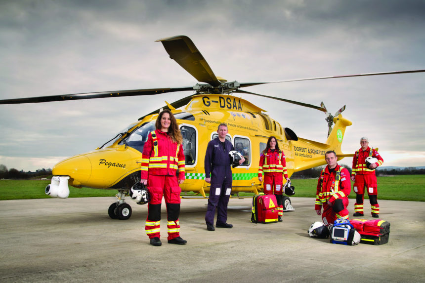 Dorset and Somerset Air Ambulance ready to treat and convey COVID-19 patients by air