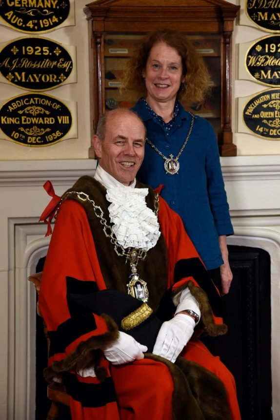 Mayor Cllr Richard Biggs and Mayoress Carolyn Biggs