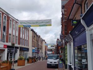 Banners in South Street Dorchester