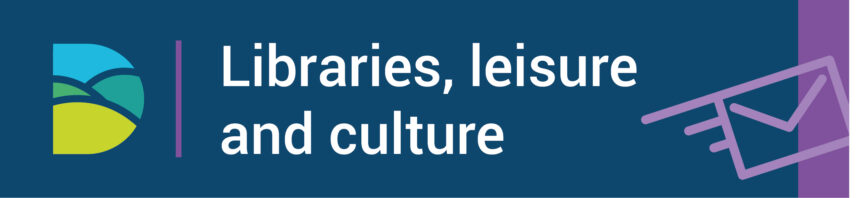 Libraries, leisure and culture logo
