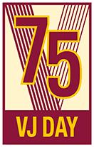 VJ Day 75 logo