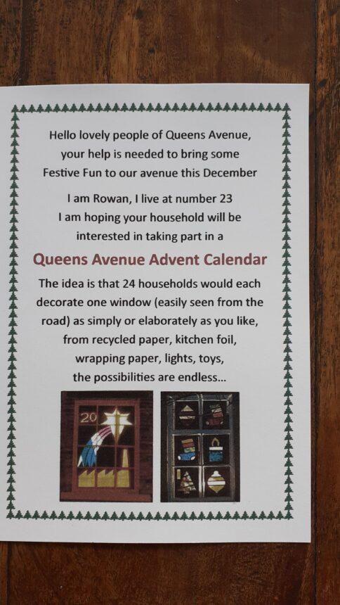 Queens Avenue create a window advent calendar!