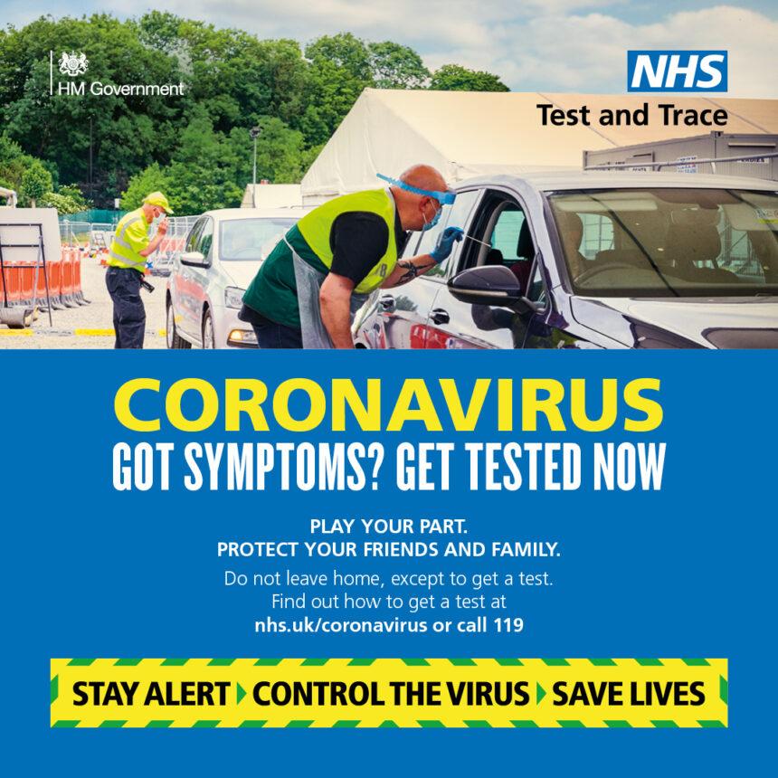 Coronavirus testing poster