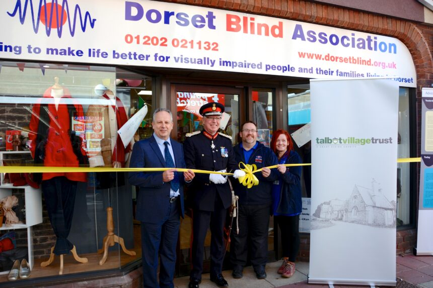 CEO of DBA Jonathan Holyhead Lord Lieutenant of Dorset Angus Campbell Shop Manager Gary Ward and Assistant Manager Tracey Hurford
