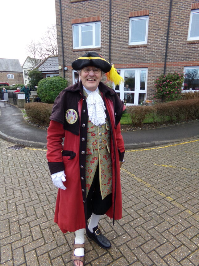 Dorchester Town Crier speaks about the new competition - the 'Silent Cry'