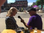 Brewery Square live broadcast - Rob interviewing Mandy Sylvester