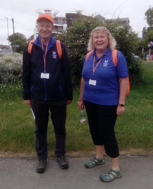 Dorset Ambassadors David and Jude on shift in Lodmoor