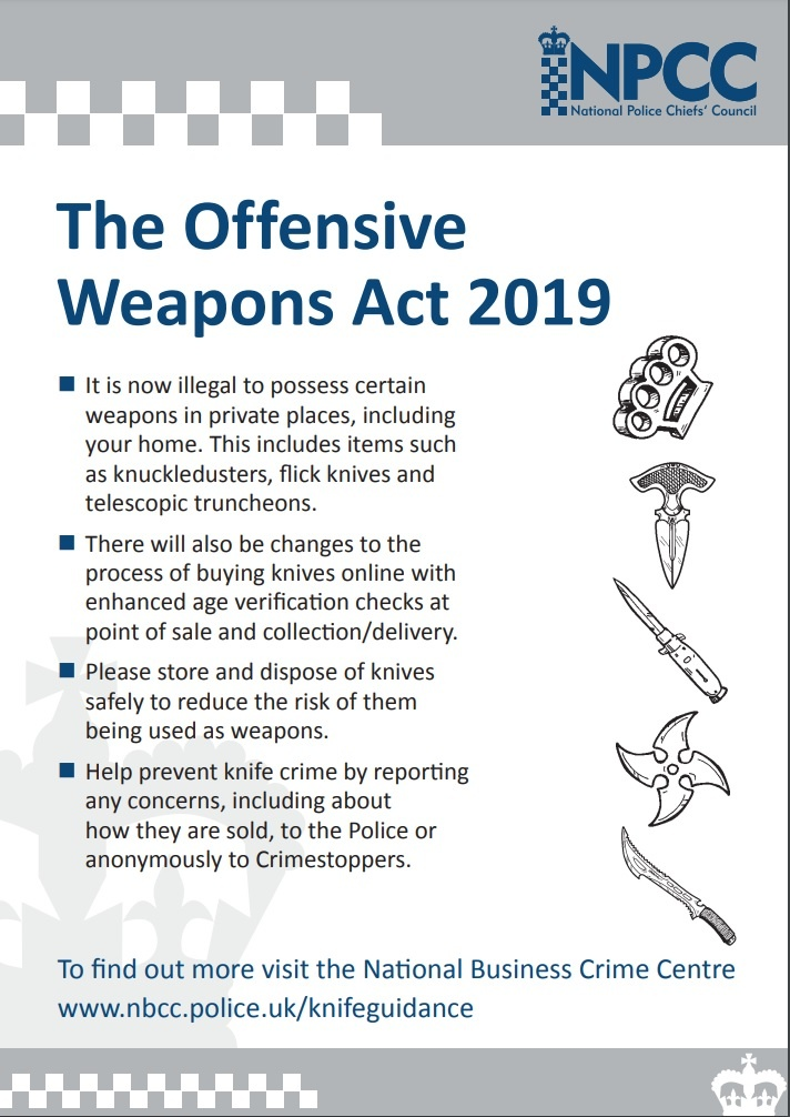 Offensive Weapons Act - Public Poster