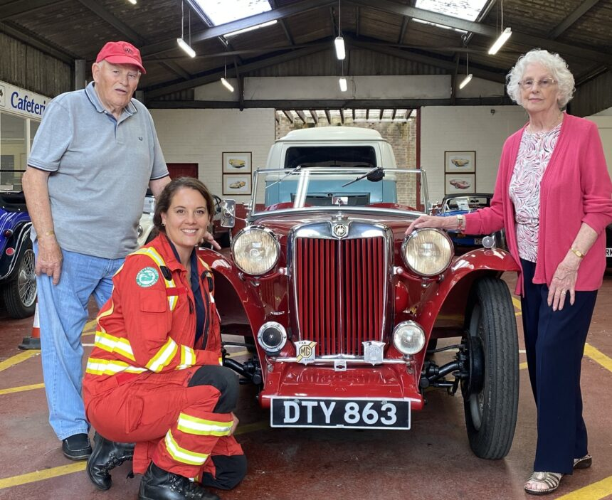 Raising funds for Air Ambulance....by auctioning his classic car!