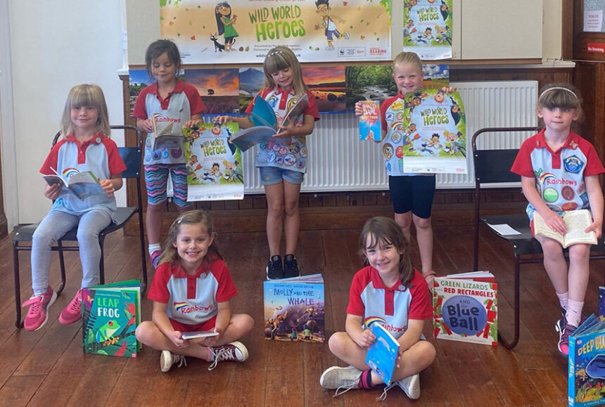 Wyke Regis Rainbows first to take on the Summer Reading Challenge