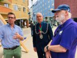 Tom Amery, Mayor Gareth Jones & Andy Worth