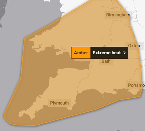 """Met Office warns about """"adverse health affects"""" in Dorset"""