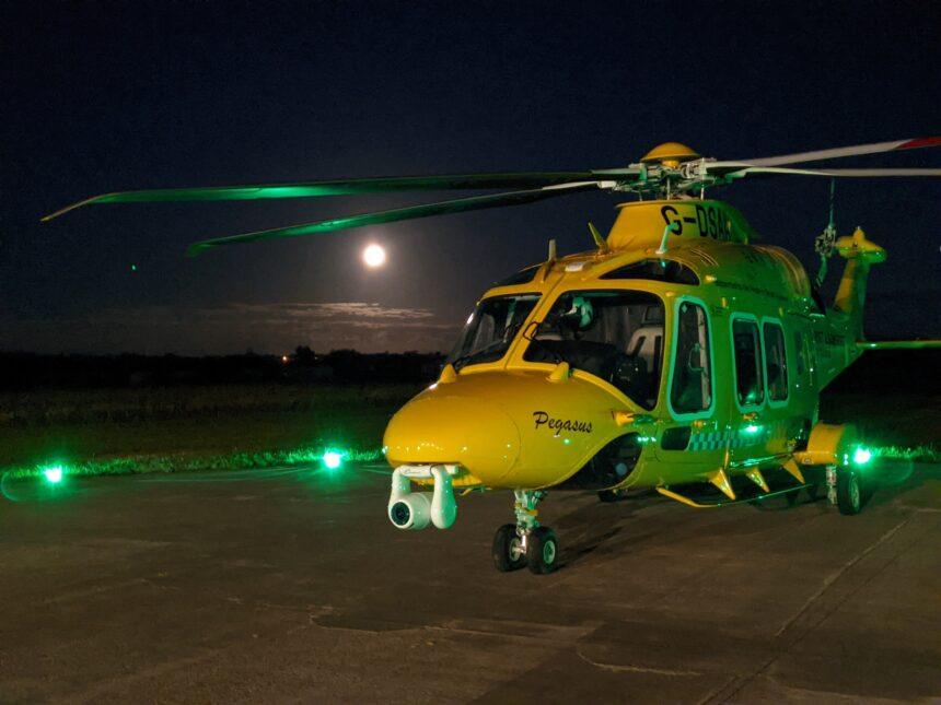 Dorset and Somerset Air Ambulance at night